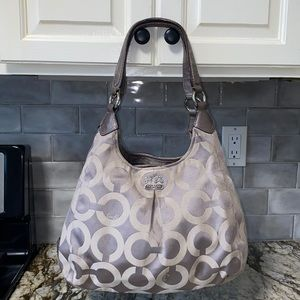 Coach Madison Maggie OpArt Silver, Gray